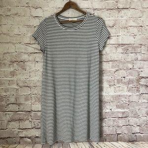 EUC WASABI & MINT striped T-shirt dress SOFT M